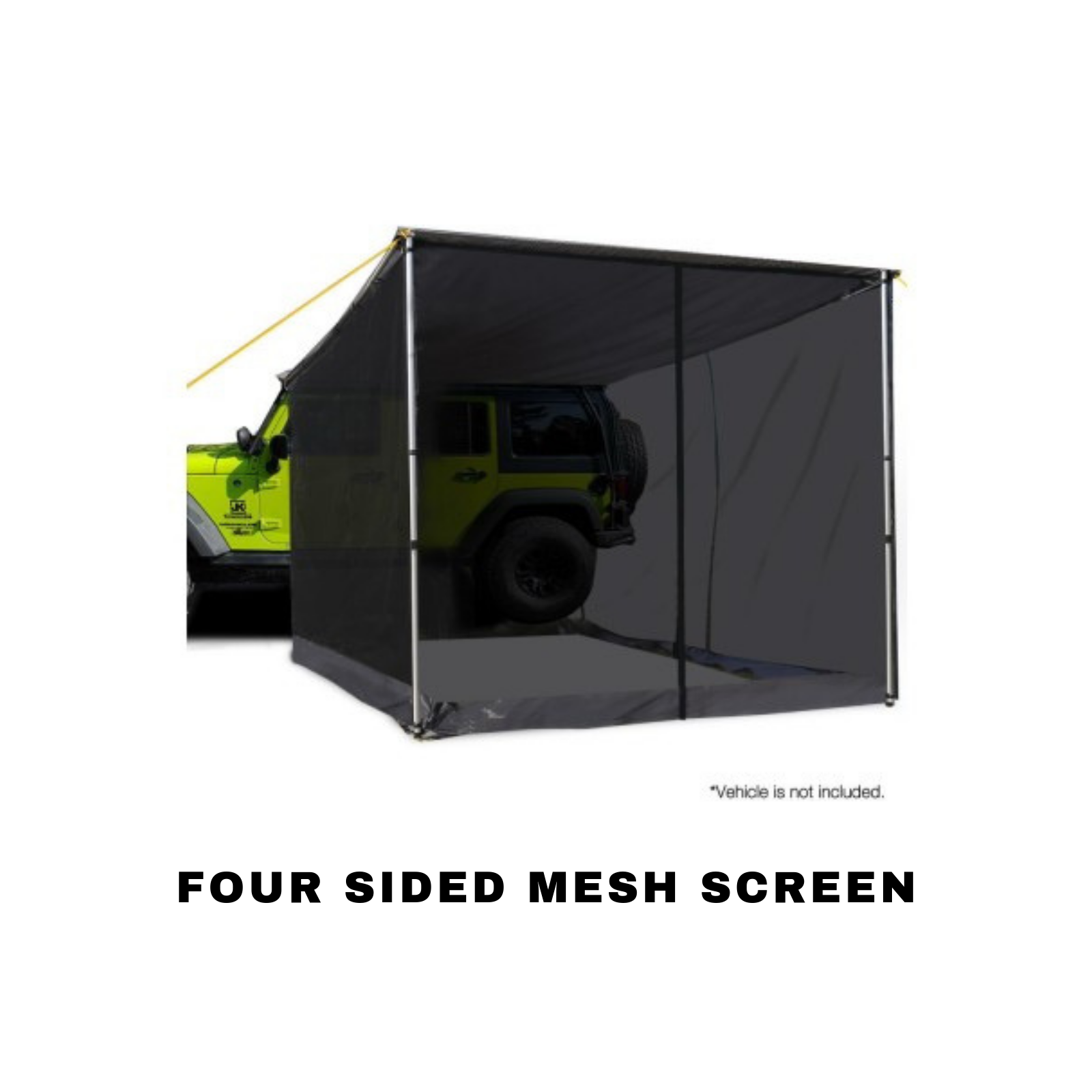 4Wd Awning Tent details about car shade awning fly screen mesh top side 4wd 4x4 suv roof  tent net 2.5m x 3m